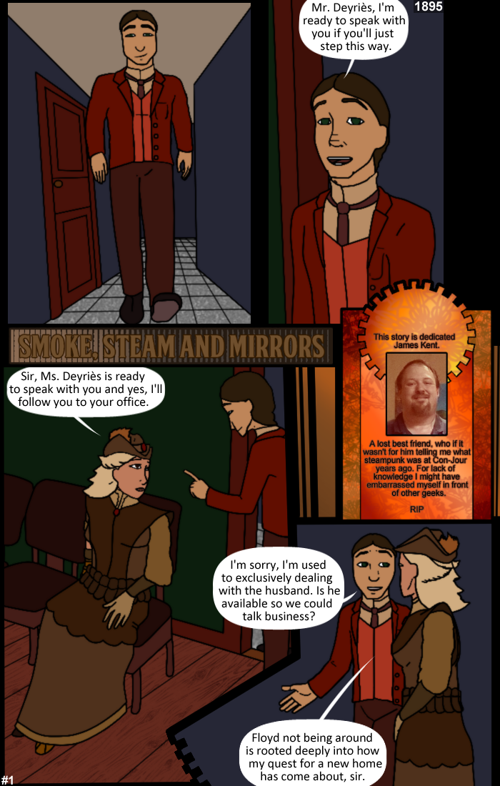 Smoke, Steam and Mirrors: Page 1